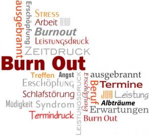 Burne Out Text Schlagwortwolke